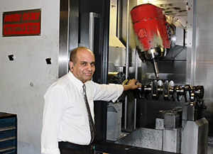 Director Nash Sharma with Allens Mori Seiki NT4250 DCG